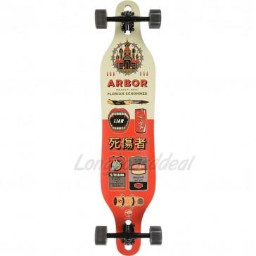 """Arbor Axis Artist-Schommer 40"""" drop-through longboard complete"""