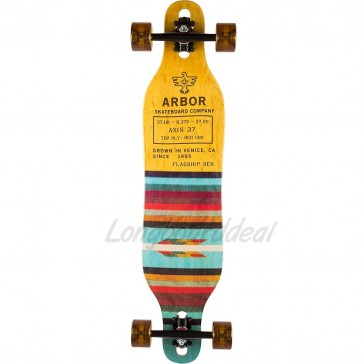 """Arbor Axis Flagship 37"""" drop-through longboard complete"""