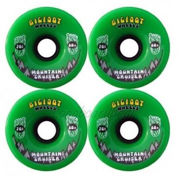 Bigfoot Mountain Cruisers Green 76mm Longboard Wielen (80a)