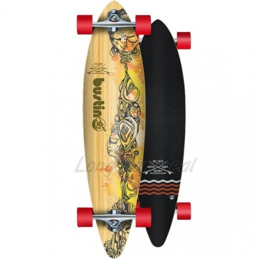 """Bustin Surf Cruiser Bamboo 36"""" pintail longboard complete"""