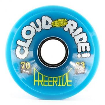 Cloud Ride Freeride 70mm 83a Blue longboard wielen