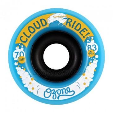 Cloud Ride Ozone 70mm 83a Blue longboard wielen