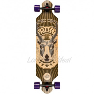 """D-Street Drop Through Stag 39"""" longboard complete"""