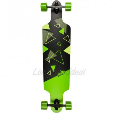 "D-Street Polygon Tri Drop Through 39"" longboard complete"