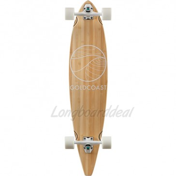 """Goldcoast Classic Bamboo 40"""" pintail longboard complete"""