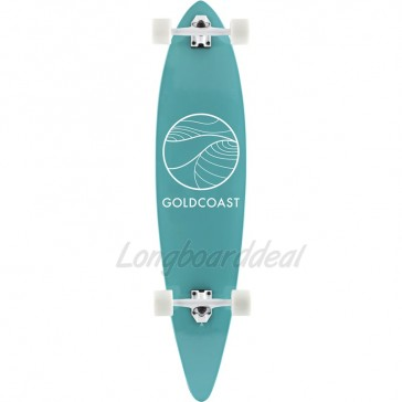 """Goldcoast Classic Turquoise 44"""" pintail longboard complete"""