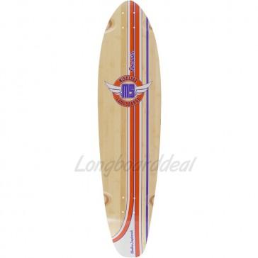 "Mindless Corsair Orange-Purple 38.25"" kicktail longboard deck"