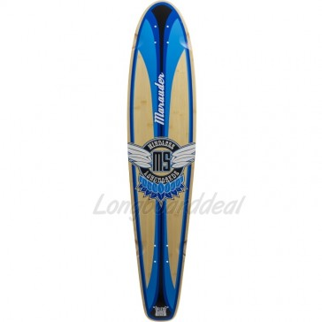 "Mindless Marauder II Blue 42.5"" kicktail longboard Deck"