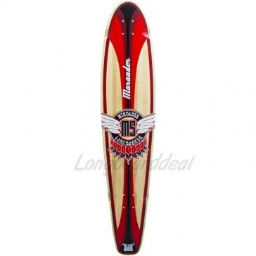 """Mindless Marauder II Red 42.5"""" kicktail longboard Deck"""