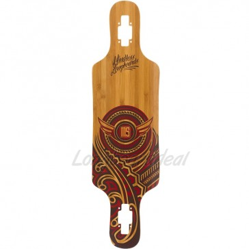 "Mindless Raven II Natural-Red 34"" drop-through longboard deck"