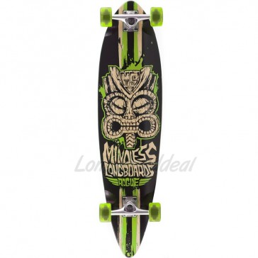 "Mindless Rogue II Tribal Black-Green 38"" pintail longboard complete"