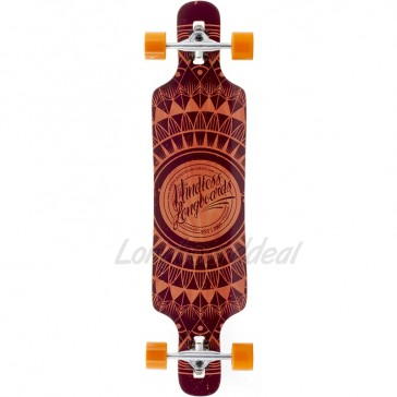 "Mindless Sanke II Brown 39"" drop-through longboard complete"