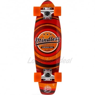 "Mindless Stained Daily II Orange 24"" mini cruiser complete"