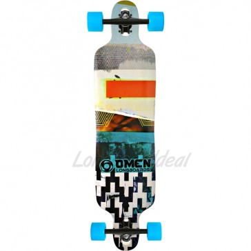 """Omen Abstract 41"""" drop-through longboard complete"""