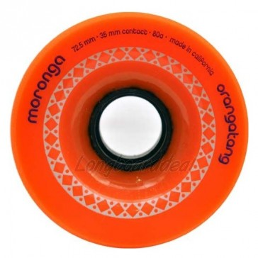 Orangatang Moronga 72.5mm 80a Orange longboard wielen