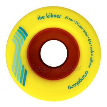 Orangatang The Kilmer 69mm 86a Yellow longboard wielen