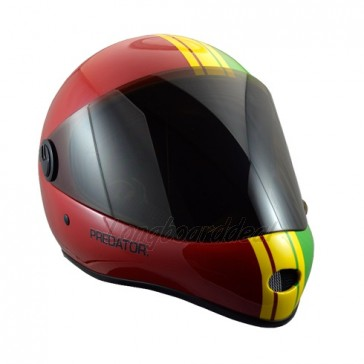Predator DH-6 Performance downhill helmet Rasta