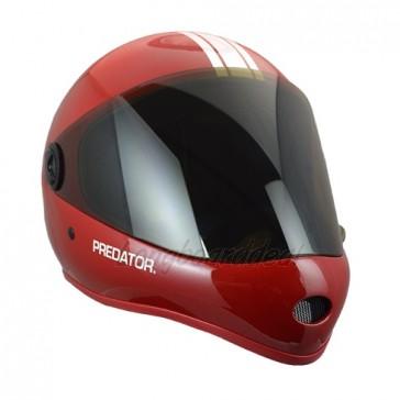Predator DH-6 Performance downhill helmet Red White-Stripe