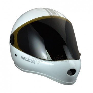 Predator DH-6 Performance downhill helmet White Silver-Stripe