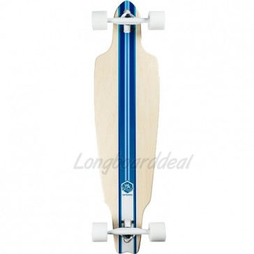 "Saterno Ocean Multi Stripe 38"" drop-through longboard complete"