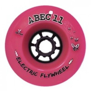 ABEC 11 Electric Flywheels 107mm 77a Pink longboard wielen