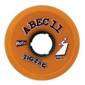 ABEC 11 ZigZags 66mm 86a Orange longboard wielen