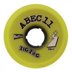 ABEC 11 ZigZags 70mm 83a Lemon longboard wielen