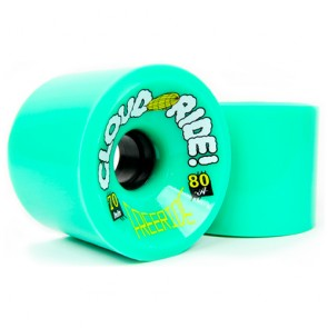 Cloud Ride Freeride 70mm 80a Green longboard wielen