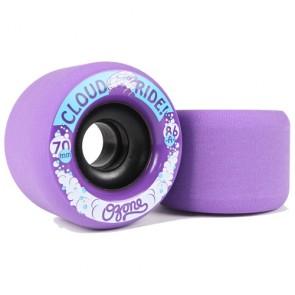 Cloud Ride Ozone 70mm 86a Purple longboard wielen
