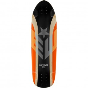 "Earthwing Big Hoopty Black-Orange 36.75"" longboard deck"