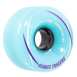 Hawgs Tracers Blue 67mm 78a longboard wielen