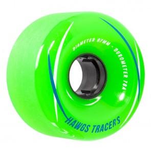 Hawgs Tracers Green 67mm 78a longboard wielen