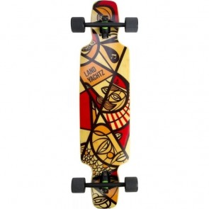 "Landyachtz Drop Carve Nautical 37"" longboard complete"