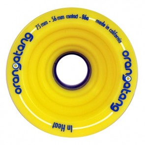 Orangatang In Heat 75mm 86a Yellow longboard wielen