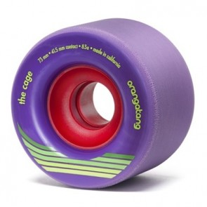 Orangatang The Cage 73mm 83a Purple longboard wielen