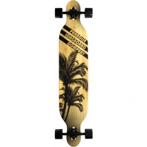 "Paradise Brown Palms 42"" drop-through longboard complete"