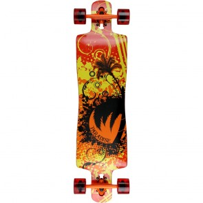 "Paradise Graffiti II 40"" drop-through longboard complete"