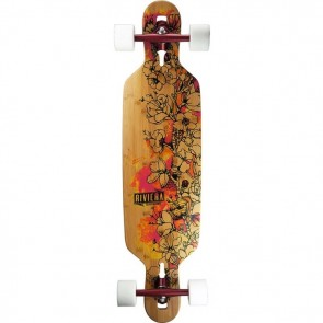 "Riviera Fire Blossoms 38"" drop-through longboard complete"
