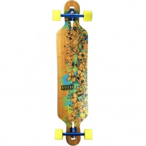 "Riviera Water Blossoms 41.3"" drop-through longboard complete"