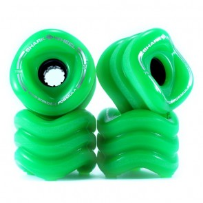 Shark-Wheels Sidewinder Green 70mm 78a longboard wielen