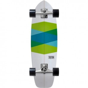 "Triton Green Glass 32.5"" surfskate complete"