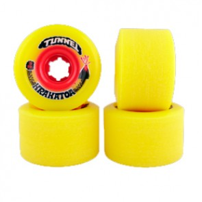 Tunnel Krakatoa Yellow Freeride 70 mm Longboard wielen (84a)